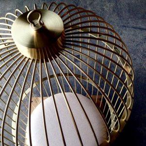 10 Fauteuil Cage laiton - atelier -anouchka potdevin