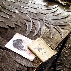 10 cage détail plumes - atelier -anouchka potdevin