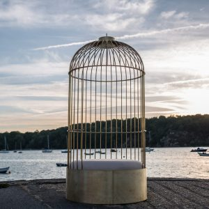 2 siège Cage laiton Happé-anouchka potdevin