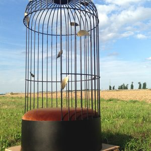 2 siège Cage plumes - atelier - anouchka potdevin